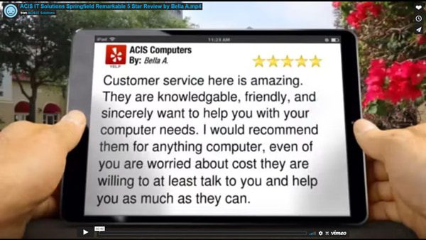 ACIS IT Solutions Springfield Remarkable 5 Star Review by Bella A.