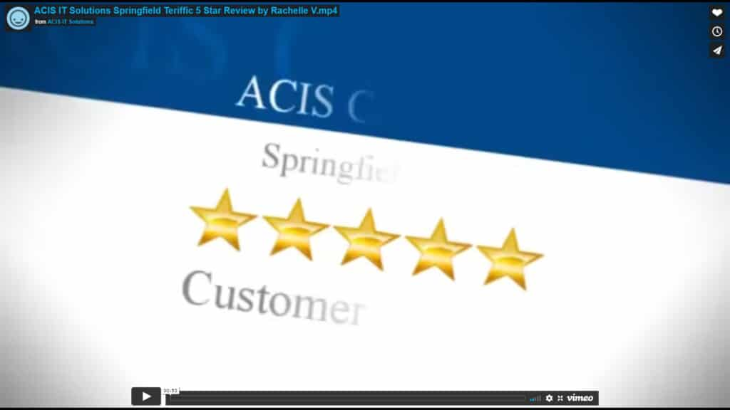 ACIS IT Solutions Springfield Terrific 5 Star Review by Rachelle V.